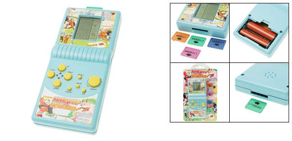 5 in 1 Aqua Rectangle Design Advanced Game Player for Children
