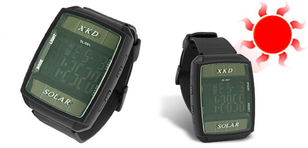 Water-Resistant Solar Powered Sports Watch