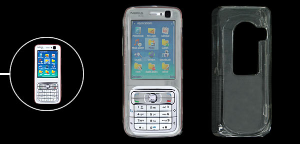 Transparent Plastic Crystal Case for Nokia N73