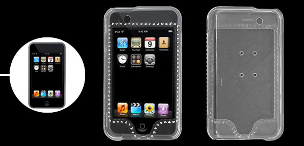 Transparent Rhinestone Plastic Case for iPod Touch 1st Generation