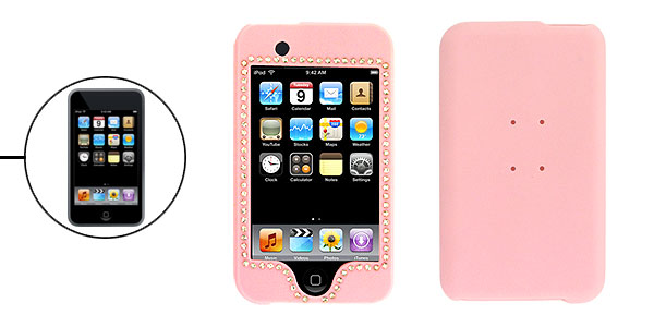 Pink Rhinestone Plastic Case for iPod Touch 1st Generation