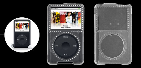 Crystal Plastic Case with Rhinestone for iPod Classic 80GB