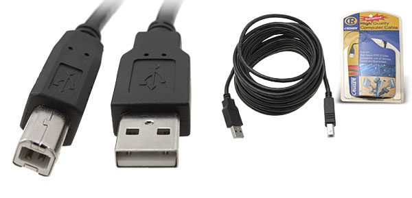 5 Meters USB 2.0 Computer to Printer Cable Male A to Male B Black
