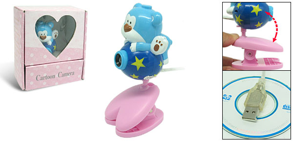Toys Cartoon Blue Bear Digital PC Camera Webcam