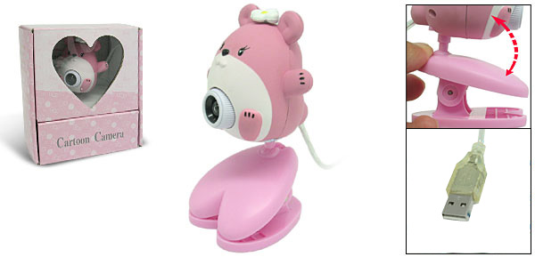 Toys Cartoon Pink Mouse Digital PC Camera Webcam