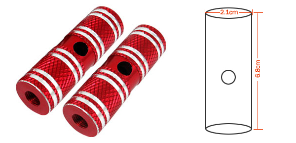 Two Red Aluminum Alloy 3/8