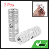 Children\'s  Silvery Two Aluminum Alloy 0.9cm Axle Foot Pegs for BMX Bicycle Bike