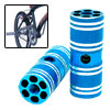 "Aluminum Alloy BMX Bike Bicycle 3/8"" Axle Blue Foot Pegs Two"
