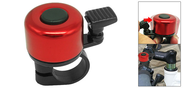 Battery Free Mini Red Black Columniform Bicycle Bike Bell