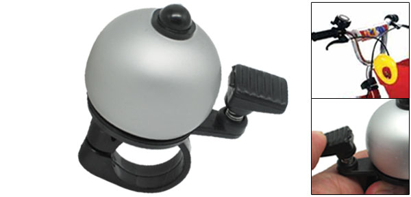 Silver Black Bike Bicycle Bell With Ball Shape Design
