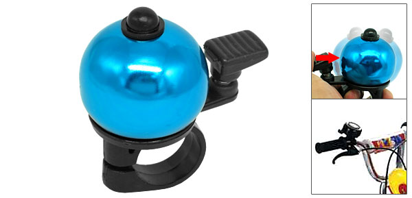 Blue Black Hand Press Bike Bicycle Bell With Ball Shape Design
