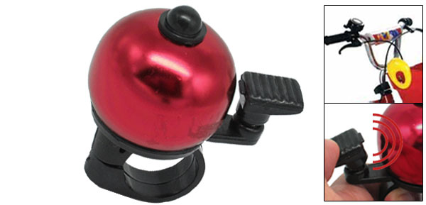 Red Black Bike Bicycle Bell With Ball Shape Design