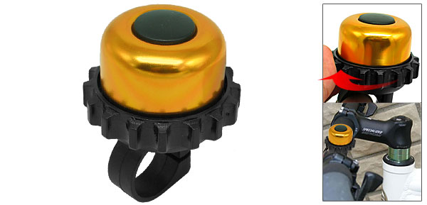 Mini Golden Black Columniform Bicycle Bike Bell