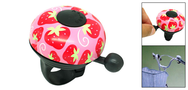Strawberry Bicycle Bell with Handlebar Mount
