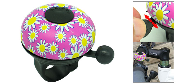 Classic Beautiful Flower design Bike Bicycle Bell Pink