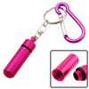 Hot Pink Aluminium Carabiner with Small Bottle Flask Keychain
