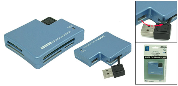 Smart Blue All In One USB 2.0 High Speed Card Reader