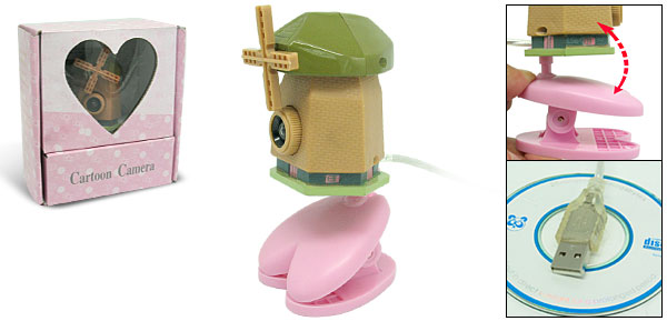 Toys Cartoon Brown Windmill Digital PC Camera Webcam