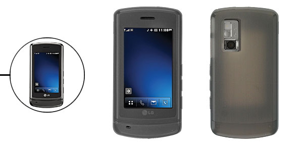 Gray Silicon Case for LG Glimmer AX 830 Cell Phones