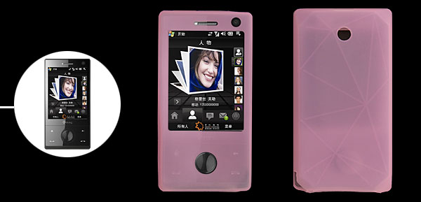 Silicone Skin Case for HTC Touch Dopod Diamond Cellphone Pink