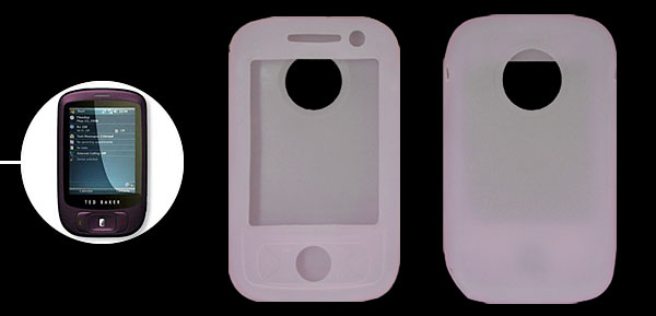 Fashion	Silicone Skin Case for O2 Xda Atom Flame Clear Pink