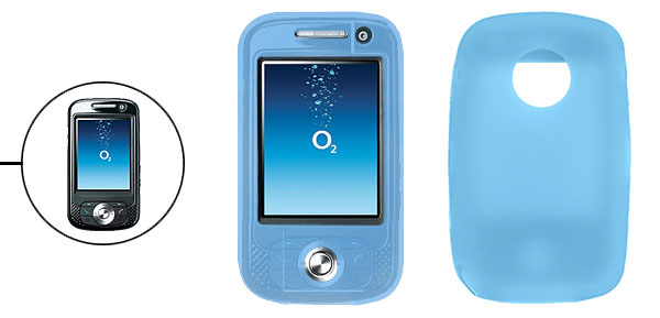 Blue Silicone Skin Case Protector for O2 XDA Atom Flame