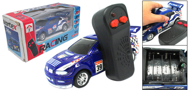 Blue Remote Radio Control RC Racing Car Speed Auto Racer Toy