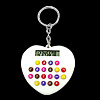 Fashion Heart Appearance Key Chain Pendant White Electronic Calcu...