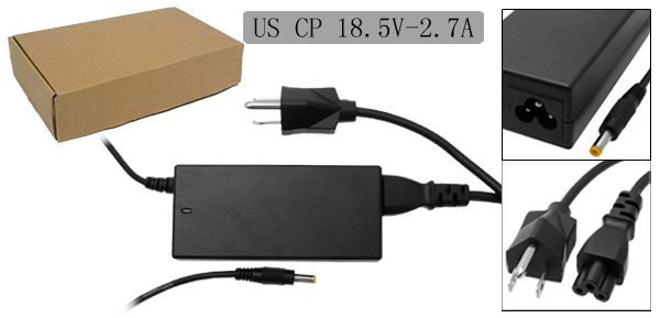 18.5V 2.7A Laptop AC Adapter with US Power Cord for Compaq E500 M700 ( 163444-001 )
