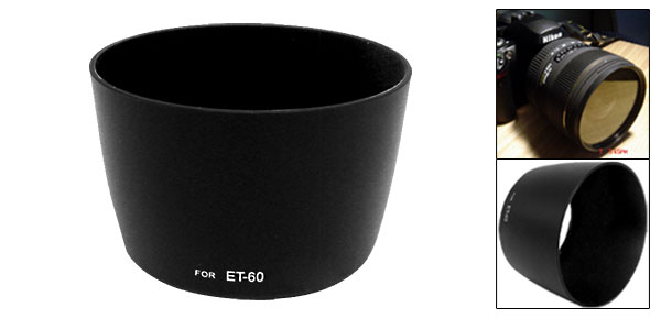 Black Lens Hood Mount ET-60 for Canon EF 75-300mm f/4.0-5.6 III