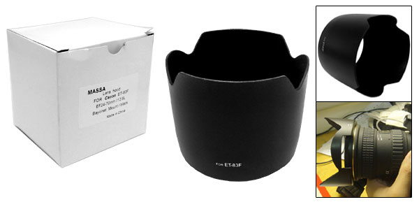 Lens Hood Black ET-83F for Camera Digital DSLR SLR Camera Lens Hood Cover