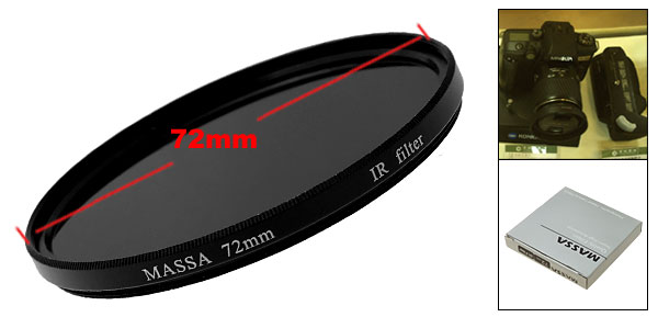 72mm Infrared IR Pass X-Ray 760nm Filter for Digital Camera