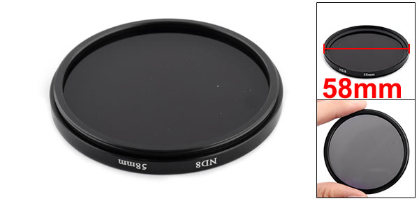 58mm ND8 Neutral Density Filter Lens Protector Screw Mount for SLR Camera