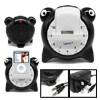 Black Frog Speaker with Dock & Alarm Clock System for iPod Nano