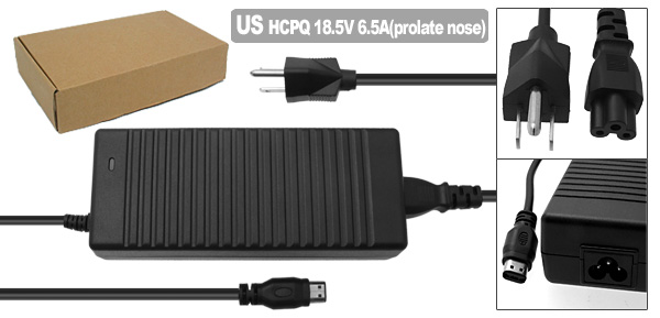 Laptop AC Adapter with US Power Cord for HP Compaq R4000 ( PPP017H 375126-002 )