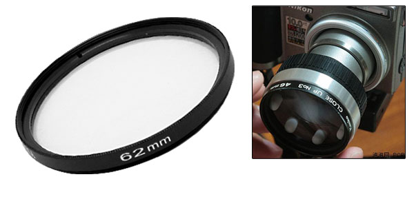 Close-up +1 Attachment 62mm Lens f250mm Filter for Minolta Olympus Camera