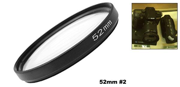 New For SLR DSLR Camera Close-up 52mm +2 Lens f500mm Filter