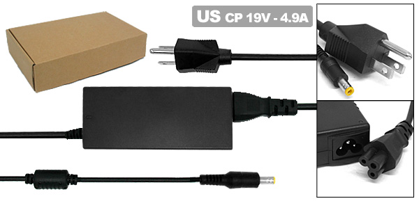 19V 4.9A Laptop AC Adapter with US Power Cord for HP Pavilion ZE4100 ZE4200 ( 324816-001 )