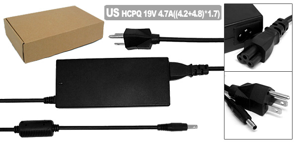 US Plug 100V-240V Laptop AC Adapter w Power Cord for HP Pavilion DV8000 DV9000 ( 394224-001 )