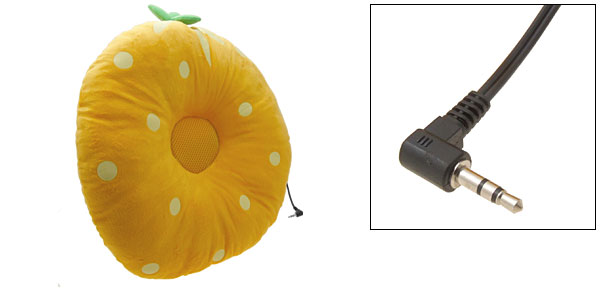 Fashion Comfortable Yellow Sound Music Speaker Pillow for iPod Mp3