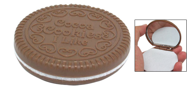 Mini Pocket Mirror Chocolate Cookie Cute Design