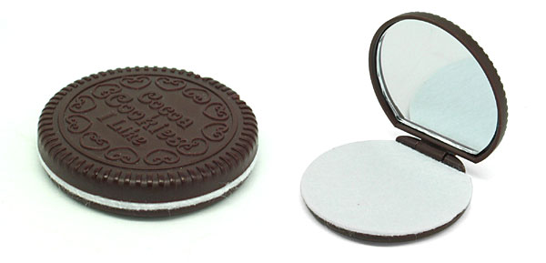 Round Mirror Chocolate Cookie Cute Design