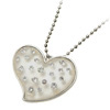 Fashion Jewelry Crystal Heart Rhinestone Pendant Sweater Chain Ne...