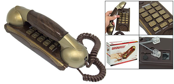 Bronze Color RJ11 Home Office Table Corded Telephone