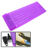 Portable Mini USB PS/2 Flexible Silicone Computer Keyboard Purple