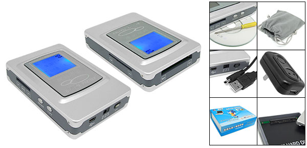2.5 IDE Digital Photo Data Bank Backup Storage HDD Enclosure + Multi Card Reader