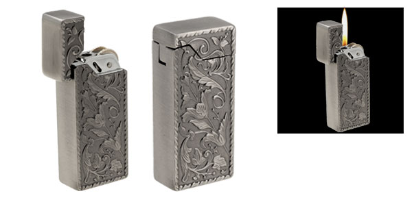 Unique Engrave Flip Top Refillable Cigarette Lighter