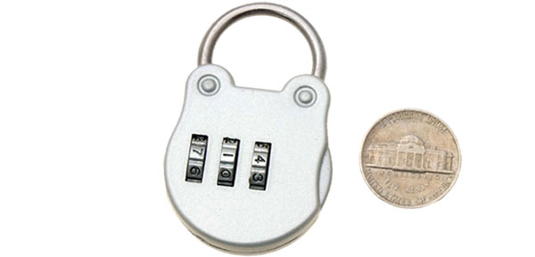 Silver 3 Digits Combination Lock Security Gate Padlock
