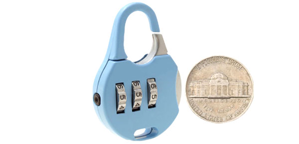 Sky Blue 3 Digits Combination Lock Security Gate Padlock