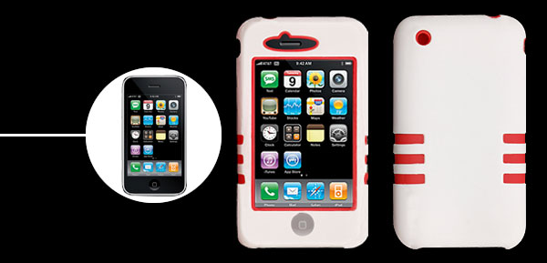 Dual Layer Silicone Case for Apple iPhone 3G (2-Pack)